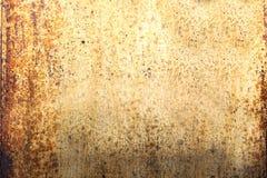 Fondo di piastra metallica arrugginito di lerciume Fotografia Stock