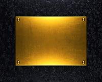 Fondo di piastra metallica dell'oro Immagini Stock