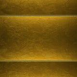 Fondo di piastra metallica dell'oro Fotografie Stock