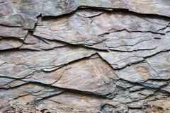 Fondo di pietra dell'ardesia in Galizia Spagna Immagine Stock