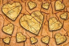 Fondo di pietra di amore Immagine Stock