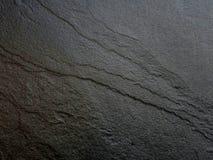Fondo di pietra nero del modello dell'ardesia Fotografie Stock Libere da Diritti