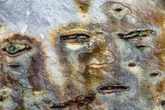 Fondo di pietra di struttura dell'estratto con le forme originali immagine stock