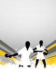 Fondo di ping-pong Fotografia Stock Libera da Diritti