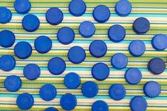 Fondo di plastica dei coperchi Fotografia Stock Libera da Diritti