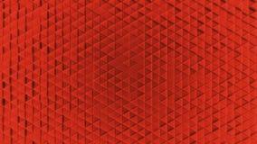 Fondo di plastica geometrico dell'estratto da piccolo rosso dei triangoli illustrazione di stock