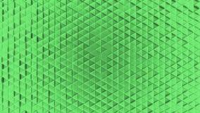 Fondo di plastica geometrico dell'estratto da piccolo verde dei triangoli illustrazione di stock