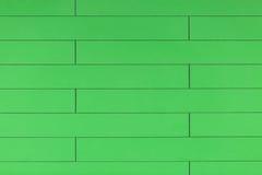 Fondo di plastica verde di alta risoluzione della parete con la forma del mattone Fotografie Stock Libere da Diritti