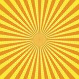 Fondo di Pop art dei raggi di Sun retro illustrazione vettoriale