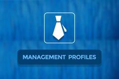 Fondo di profilo corporativo Fotografia Stock