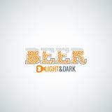 Fondo di progettazione apri di vetro di birra Immagine Stock
