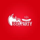 Fondo di progettazione del fuoco del barbecue Fotografia Stock Libera da Diritti