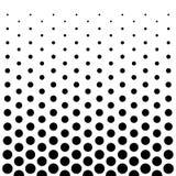 Fondo di progettazione del modello di punti del cerchio in bianco e nero Fotografia Stock Libera da Diritti