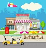 Fondo di progettazione del negozio di ricordo royalty illustrazione gratis