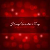 Fondo di progettazione delle luci rosse di giorno di biglietti di S. Valentino Immagine Stock