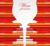 Fondo di progettazione di carta del menu del vino Immagine Stock Libera da Diritti