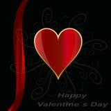 Fondo di progettazione di giorno di biglietti di S. Valentino Immagini Stock Libere da Diritti
