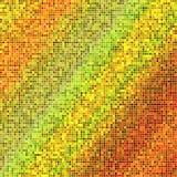 Fondo di progettazione di struttura di mosaico nei colori verdi gialli rossi Immagine Stock