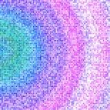 Fondo di progettazione di struttura di mosaico nei colori viola rosa blu Fotografia Stock