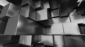 Fondo di prospettiva del cubo Immagini Stock