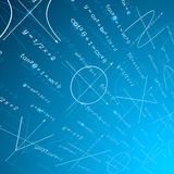 Fondo di prospettiva di matematica illustrazione vettoriale