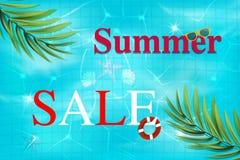 Fondo di punto di vista superiore della piscina Piscina di lusso Fondo di estate illustrazione di stock