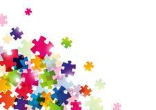 Fondo di puzzle di colore Fotografia Stock