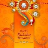 Fondo di Rakhi per la celebrazione bandhan di Raksha di festival indiano illustrazione di stock