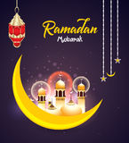 Fondo di Ramadan Celebration con mosk Immagine Stock
