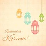 Fondo di Ramadan Kareem (saluti per il Ramadan) Fotografie Stock
