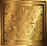 Fondo di rame astratto dell'oro di floreale d'annata elegante Fotografia Stock