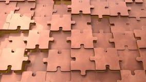 Fondo di rame di puzzle Fotografie Stock