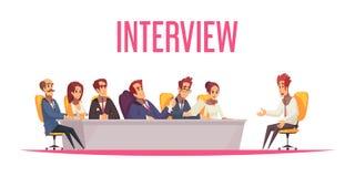 Fondo di reclutamento di intervista di lavoro royalty illustrazione gratis