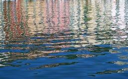 Fondo di riflessioni dell'acqua Fotografia Stock Libera da Diritti