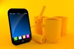 Fondo di rinnovamento con lo Smart Phone Fotografia Stock