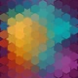 Fondo di ripetizione delle stelle geometriche Parte posteriore geometrica di spettro Fotografie Stock