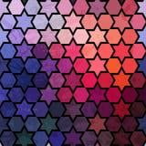 Fondo di ripetizione delle stelle geometriche Parte posteriore geometrica di spettro Immagine Stock