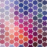 Fondo di ripetizione delle stelle geometriche Parte posteriore geometrica di spettro Immagini Stock
