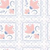 Fondo di ripetizione senza cuciture - Polka Dot Roses Immagini Stock
