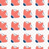 Fondo di ripetizione senza cuciture - Polka Dot Roses Immagine Stock