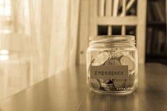 Fondo di risparmio di emergenza Fotografia Stock Libera da Diritti