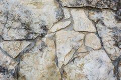 Fondo di roccia di pietra naturale Fotografie Stock Libere da Diritti