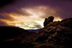 Fondo di Rocky Landscape Brecon Beacons Fotografie Stock Libere da Diritti