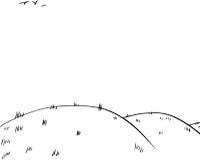 Fondo di Rolling Hills come schizzo del profilo illustrazione di stock