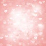 Fondo di rosa di giorno di biglietti di S. Valentino Fotografia Stock