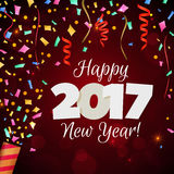 Fondo di rosso del nuovo anno 2017 di saluto Royalty Illustrazione gratis