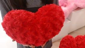 Fondo di rosso di giorno di biglietti di S. Valentino Fotografie Stock Libere da Diritti