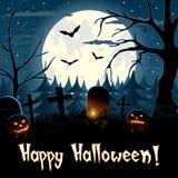 Fondo di saluto di Halloween Fotografia Stock