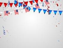 Fondo di saluto di Memorial Day Illustrazione di vettore di celebrazione illustrazione vettoriale