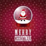 Fondo di Santa Claus Snowflake di Buon Natale illustrazione vettoriale